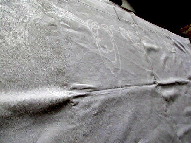 Herrliches altes XXXL Leinen Tischtuch Tafeltuch Jugendstil Hohlsaum 400 x 180 8