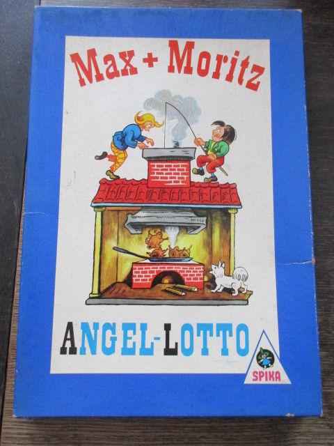 Spika altes Kinderspiel Max und Moritz Angel Lotto Komplett 1975