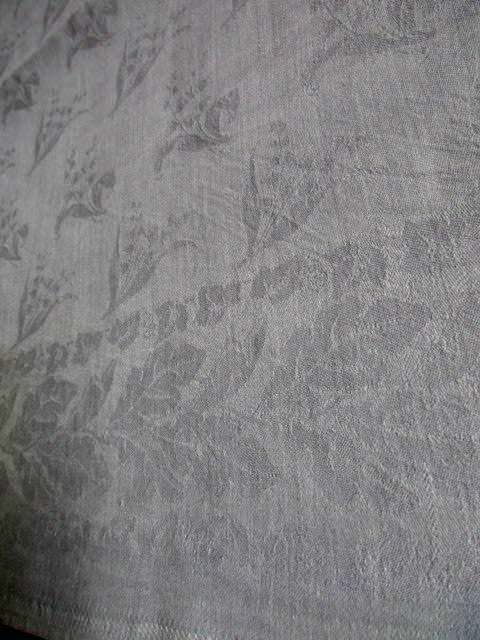 Herrliches altes XXL Leinen Tischtuch Tafeltuch Tischdecke Jugendstil 320 x 130 3