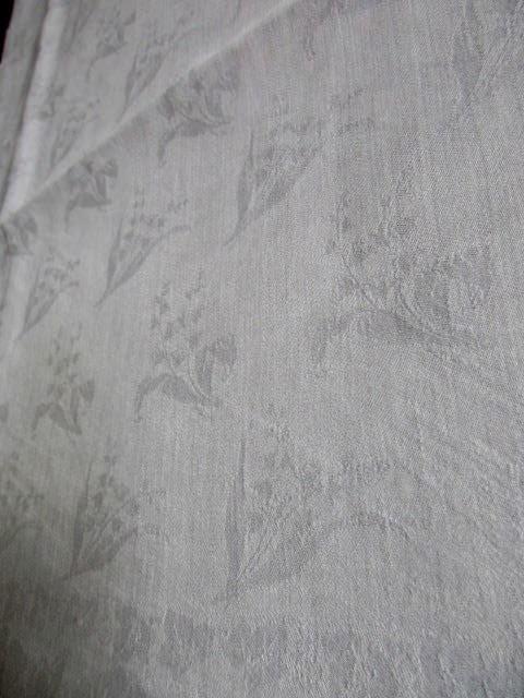 Herrliches altes XXL Leinen Tischtuch Tafeltuch Tischdecke Jugendstil 320 x 130 4