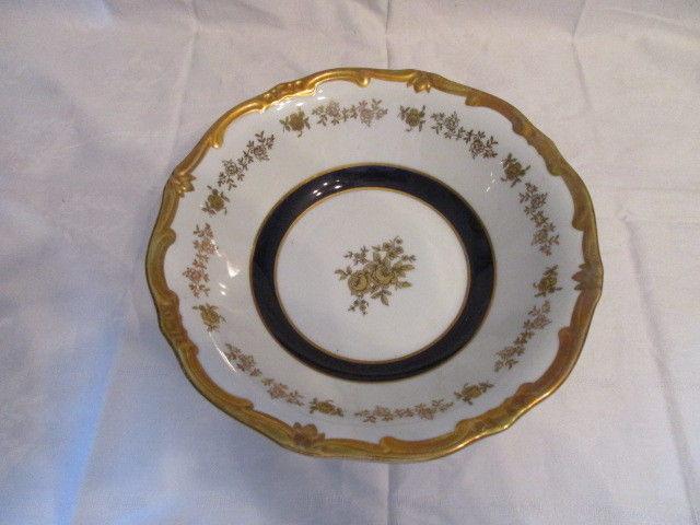 Weimar Echt Kobalt Schale Gemüseschale Beilage Katharina 7722 Barock Gold Rose