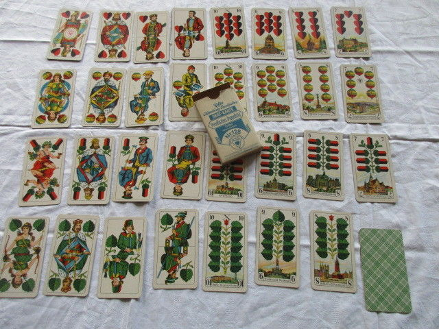 Altenburger Stralsunder Skatkarten Preußisches Doppelbild Nr. 128 um 1940 OVP