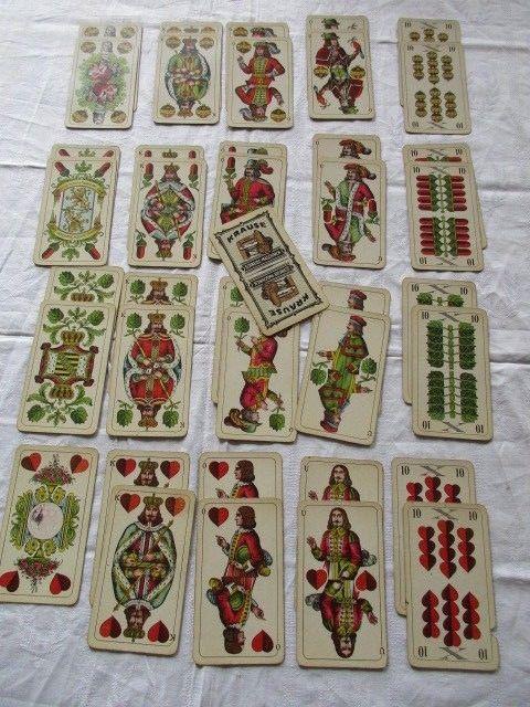 Doppelkopfkarten Flemming Wiskott Spielkartenfabrik Glogau Karl Krause Leipzig
