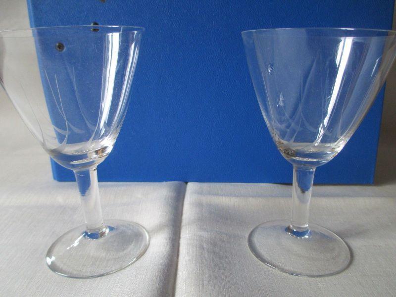 2 alte Weingläser Sektgläser mit schönem Schliff