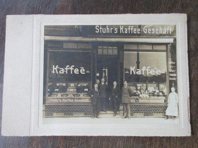 Hamburg altes großes Foto Stuhrs Kaffee Geschäft Eppendorfer Landstraße von 1916