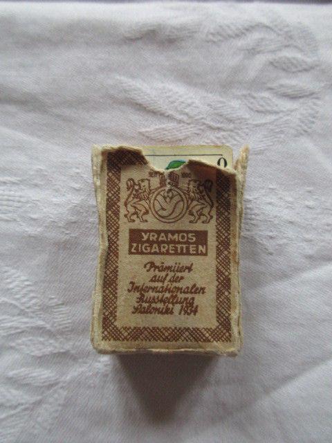 Alte Miniatur Skatkarten Werbung Yramos Zigaretten Spielkarte Dresden um 1935