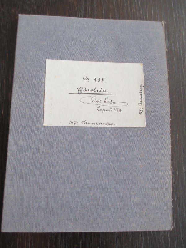 Messtischblatt auf Leinen von 1924 Elterlein Sachsen Nr. 138