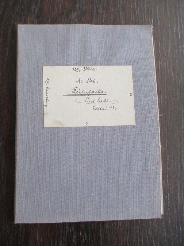 Messtischblatt auf Leinen von 1932 Kühnhaide Sachsen Nr. 140