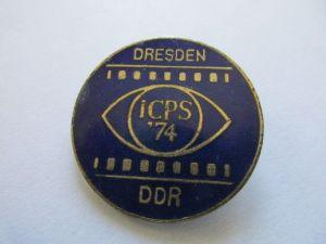 DDR Abzeichen Dresden  ICPS  74   DDR  emailliert