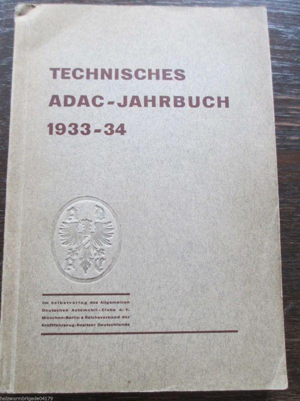 Technisches ADAC- Jahrbuch 1933- 1934