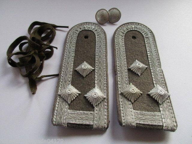 NVA 1 paar Schulterstücke Luftverteidigung grau Stabsfeldwebel