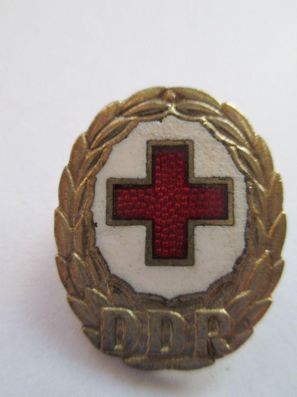 Rotes Kreuz Abzeichen DDR emailliert gold