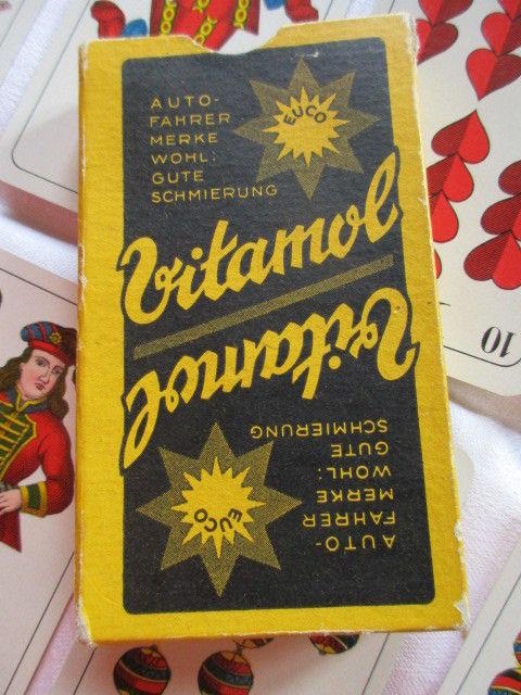 Alte Skatkarten Werbung Auto Vitamol Ass Altenburg Thüringen um 1935 TOP 2