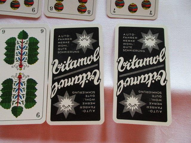 Alte Skatkarten Werbung Auto Vitamol Ass Altenburg Thüringen um 1935 TOP 7