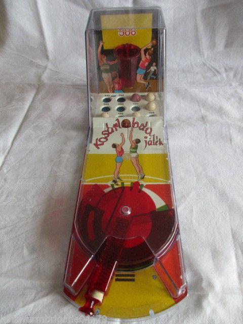 Alter ungarischer Tischflipper Pinball Kosar Labda Basketball DDR OVP 2