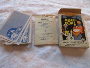 Quartett ALLEZ HOP Neubert Verlag Altenburger Spielkarten 1969