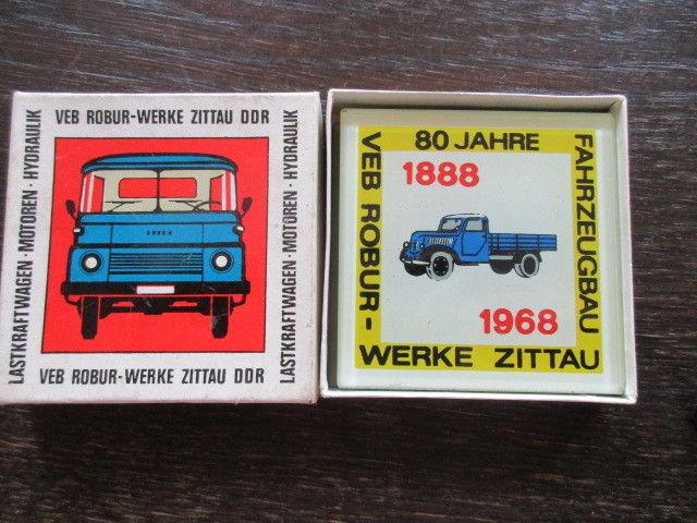 80 Jahre Robur Werke Zittau Fahrzeugbau 1888- 1968 Werbung 3 Glasplatten 1