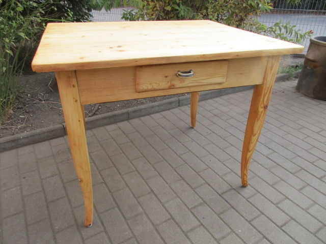 Tisch Esstisch Jugendstil um 1900 Weichholz Nr.10 mit Schub