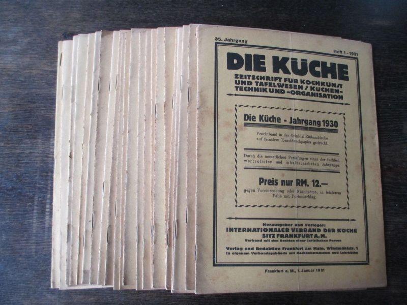 Die Küche Zeitschrift Kochkunst/ Technik/Organisation 1931,  23 Hefte