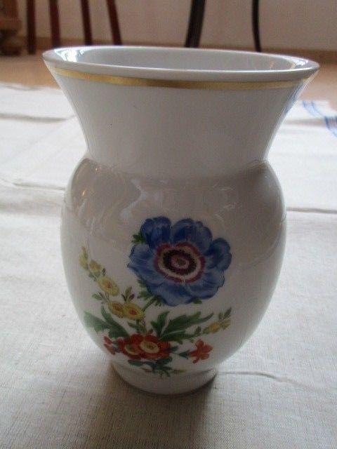 Meissen Vase Blumendekor 1.Wahl TOP 14,5 cm