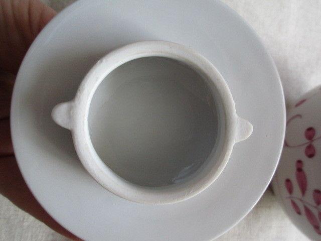 Meissen Kernstück Kaffeekanne Zuckerdose Sahnekännchen Indisch Purpur 1. Wahl 10