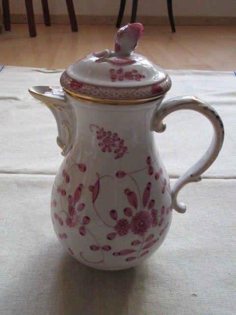 Meissen Kernstück Kaffeekanne Zuckerdose Sahnekännchen Indisch Purpur 1. Wahl 8