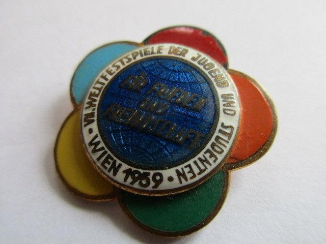 DDR  VII. Weltfestspiele der Jugend und Studenten1959  WIEN  emailliert