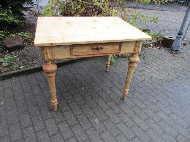Tisch Esstisch Gründerzeit um 1880 Weichholz Nr.7 mit Schub
