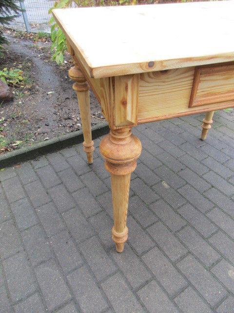 Tisch Esstisch Gründerzeit um 1880 Weichholz Nr.7 mit Schub 2