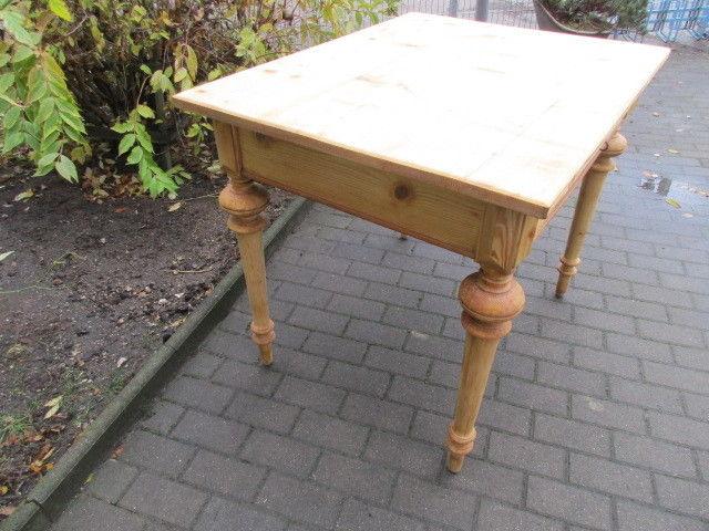 Tisch Esstisch Gründerzeit um 1880 Weichholz Nr.7 mit Schub 3