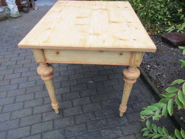 Tisch Esstisch Gründerzeit um 1880 Weichholz Nr.7 mit Schub 5