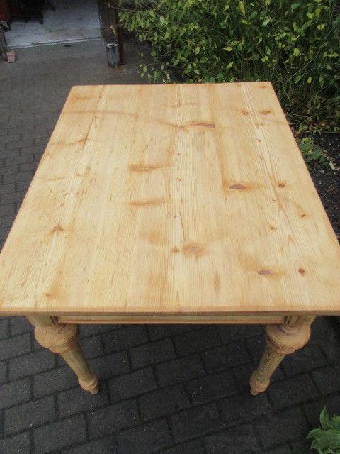 Tisch Esstisch Gründerzeit um 1880 Weichholz Nr.7 mit Schub 6