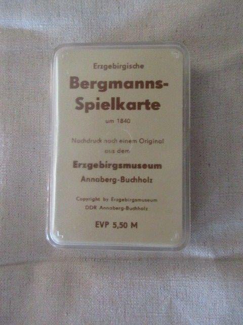 Skat Erzgebirgische Bergmanns Spielkarte Nachdruck 32 Blatt DDR TOP 2