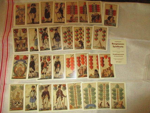 Skat Erzgebirgische Bergmanns Spielkarte Nachdruck 32 Blatt DDR TOP 4