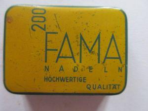 Seltene alte Grammophonnadeln 200 FAMA Nadeldose