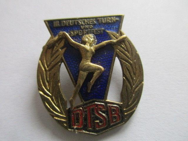 DDR Abzeichen III. deutsches Turn- und Sportfest  Leipzig 13-16.8.1959 DTSB 0