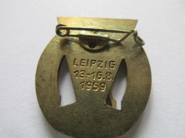 DDR Abzeichen III. deutsches Turn- und Sportfest  Leipzig 13-16.8.1959 DTSB 1