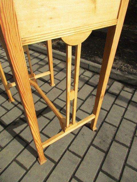 Alter Beistelltisch Tisch Esstisch Jugendstil Weichholz um 1900 2