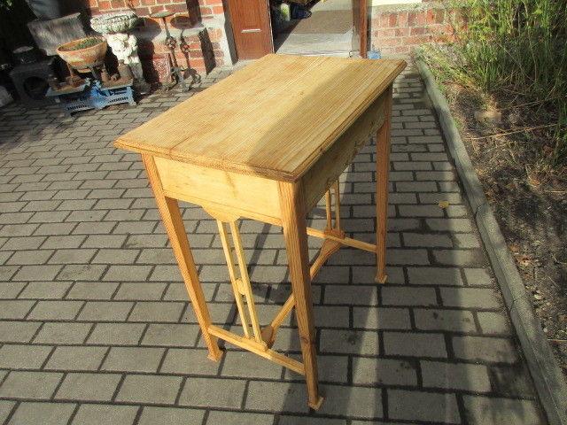 Alter Beistelltisch Tisch Esstisch Jugendstil Weichholz um 1900 3