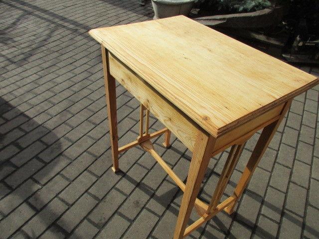Alter Beistelltisch Tisch Esstisch Jugendstil Weichholz um 1900 5
