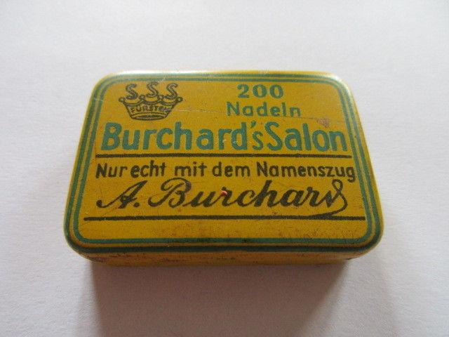 Seltene alte Grammophon Nadeln Burchard`s Salon 200  Needles Original Dose