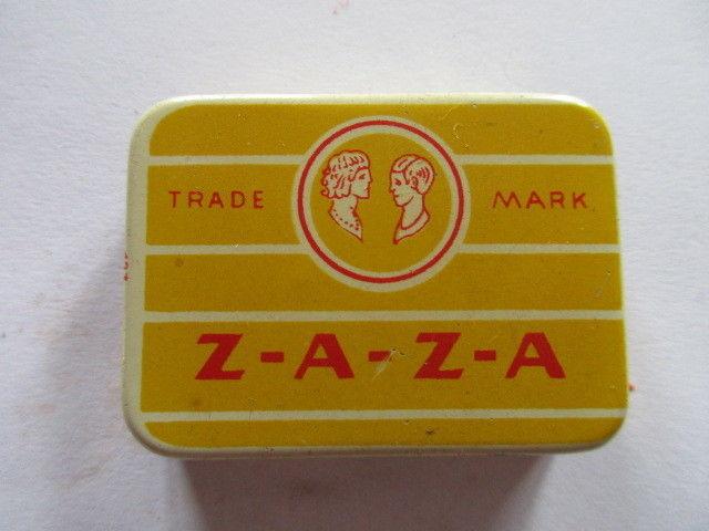 Seltene alte Grammophon Nadeln ZAZA Needles Original Dose
