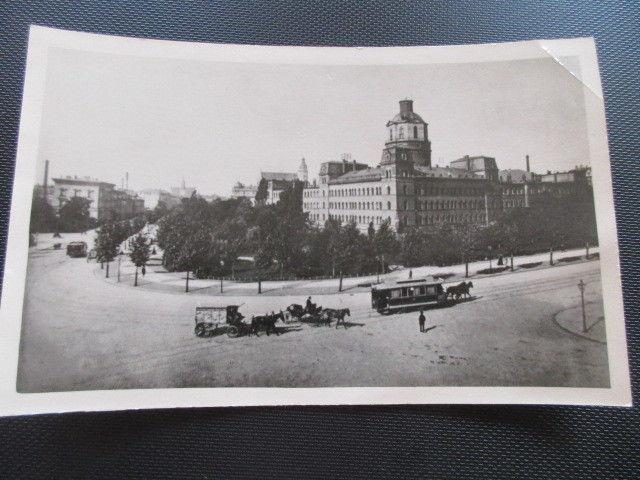 AK Leipzig altes Foto Pleißenburg mit Pferdebahn Kutschen