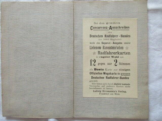 Special Radfahrerkarte Mitteleuropa Blatt 88 Chemnitz Liebenow Ravenstein u 1910 1