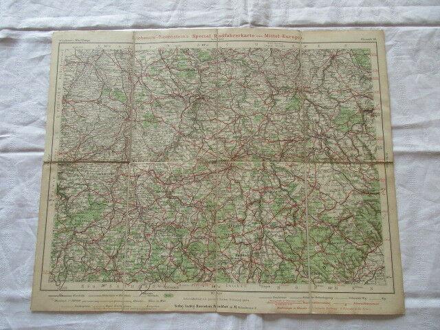 Special Radfahrerkarte Mitteleuropa Blatt 88 Chemnitz Liebenow Ravenstein u 1910 3