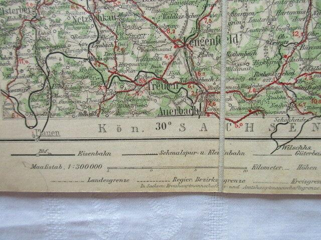 Special Radfahrerkarte Mitteleuropa Blatt 88 Chemnitz Liebenow Ravenstein u 1910 4