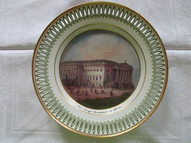 KPM Berlin Carl Daniel Freydanck Durchbruch Teller kgl. Opernhaus Berlin um 1820