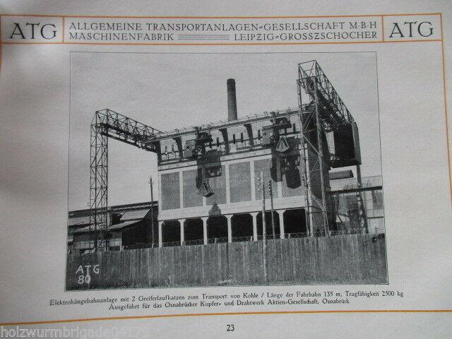 Transportanlagen Gesellschaft ATG Maschinenfabrik Leipzig Großzschocher 1922 ! 10