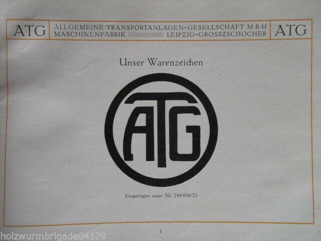 Transportanlagen Gesellschaft ATG Maschinenfabrik Leipzig Großzschocher 1922 ! 11