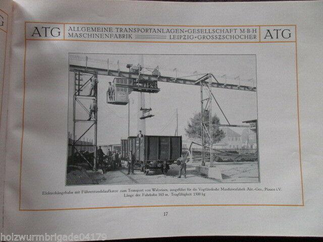 Transportanlagen Gesellschaft ATG Maschinenfabrik Leipzig Großzschocher 1922 ! 3